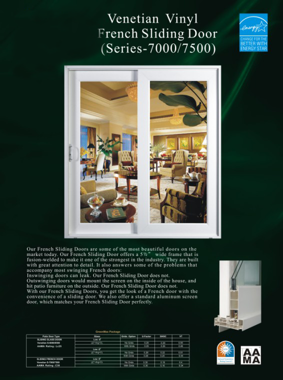 French Vinyl Patio Door Brochure