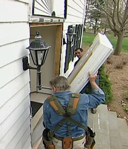 Install an entry door
