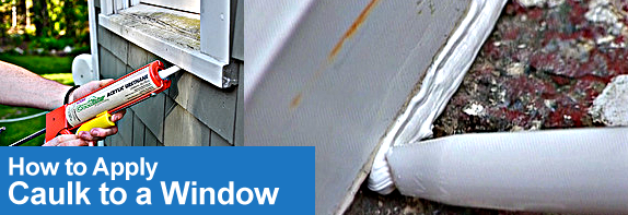 How To Apply Caulk To A Window