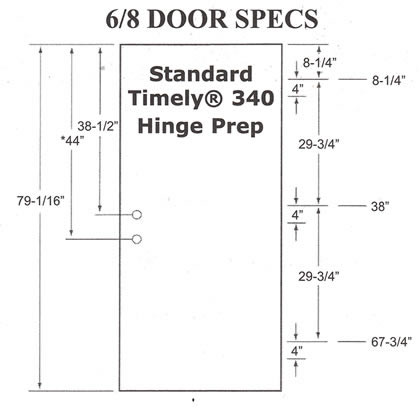 door vertical measurements