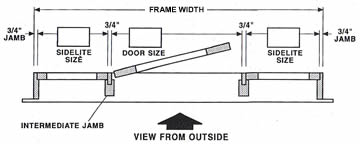 Wood French Door 10 5 With 2 Sidelights