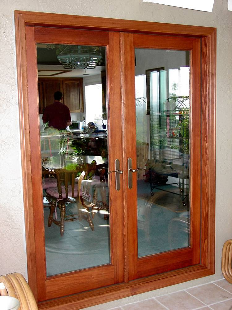 Wood double french doors 1 1 prehung for Wooden french doors