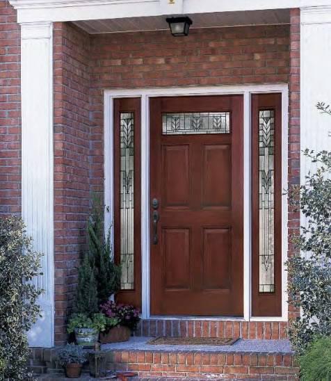 Best Exterior Doors For Home: Entry Prehung 6 Panel Top Lite Fiberglass Door With 2