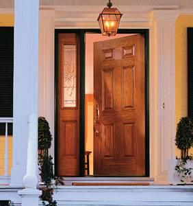 Entry Prehung 6 Panel Textured Fiberglass Door