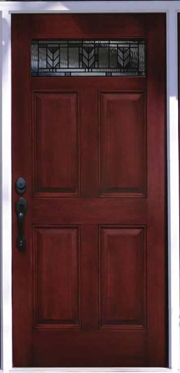 Replacement Windows Cost >> Entry Prehung 6 panel Top Lite Fiberglass Door