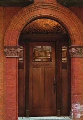 Entry Prehung Craftsman Fiberglass Door With 2 Sidelights