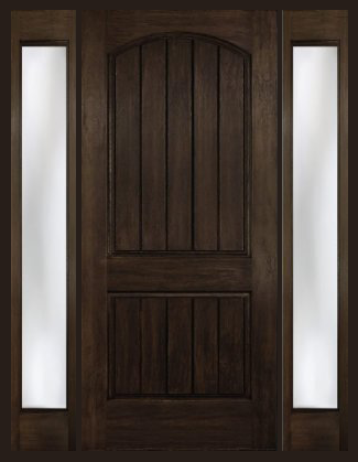 entry prehung arch plank square top rustic fiberglass door with 2