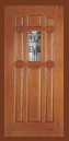 Other Doors - Entry Prehung 9 Panel Decorated Glass Fiberglass Door