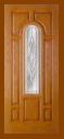 Textured Oak Grain - Entry Prehung Arched Glaze Fiberglass Door