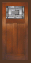 Textured Fir Grain - Entry Prehung Craftsman Fiberglass Door