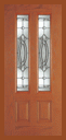 . - Entry Prehung Vertical Decorated Glass Fiberglass Door