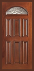 Wood Entry Doors - Entry Prehung Eye Brow Wood Door