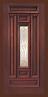 Wood Entry Doors - Entry Prehung Rectangular Designs Mahogany Wood Door