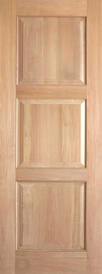 Interior Rustic 3 Panel Wood Door