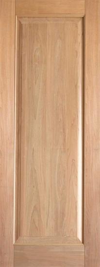 Interior rustic single panel wood door
