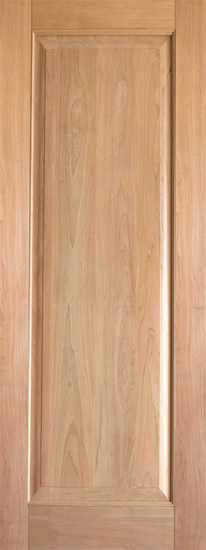 Single Wood Panel ~ Interior rustic single panel wood door