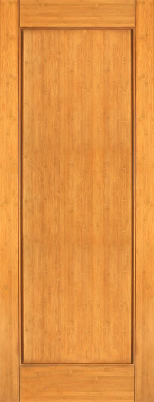 Bamboo Wood Door : Interior bamboo wood single panel door