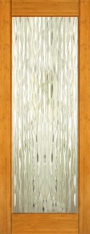 Bamboo Glass Panels : Interior bamboo waterfall glass door