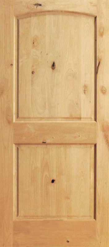 Interior 2 Panel Knotty Alder Wood Door