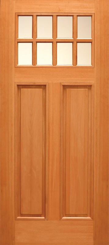 Budget wood door with 8 lites