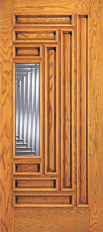 Entry 9 panel wood door with lite for 9 lite wood exterior door