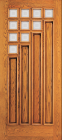 Wood Entry Doors - Entry 4 Panel Wood Door with 10 Mini Lites