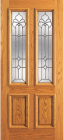 Wood Entry Doors - Entry 2 Panel Wood Door with 2 Lites 2