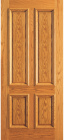 Wood Entry Doors - Entry 4 Plain Panel Wood Door