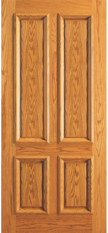 Entry 4 Plain Panel Wood Door
