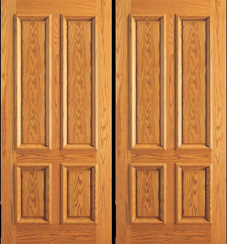 Entry 4 Plain Panel Wood Double Door