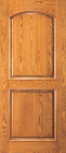 Wood Entry Doors - Entry 2 Panel Wood Door