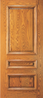 Wood Entry Doors - Entry 3 Panel Wood Door