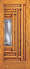 Wood Entry Doors - Entry 9 Panel Wood Door with Lite