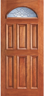 Wood Entry Doors - Entry Eye Brow 6 Panel Wood Door