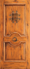 Wood Entry Doors - Western 2 Panel Wood Door with Speak Easy