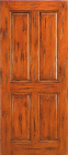 Wood Entry Doors - Western 4 Panel Wood Door