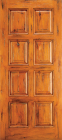 Wood Entry Doors - Western 8 Panel Wood Door