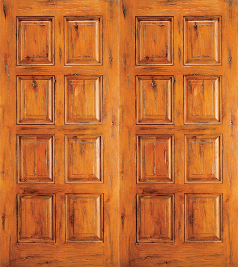 - Western 8 Panel Wood Double Door