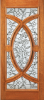 Wood Entry Doors - Entry Wood Door with Floral Design