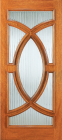 Wood Entry Doors - Entry Wood Door with Glass Design