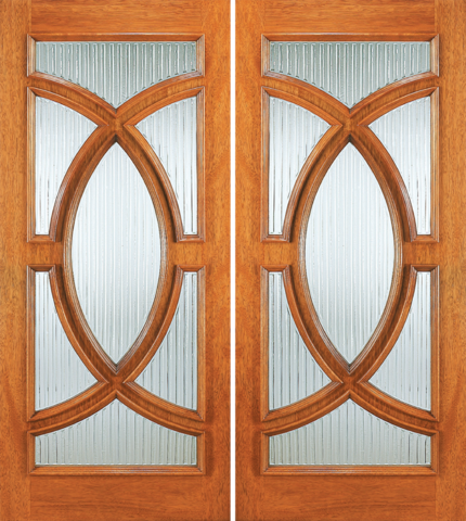 Entry wood double door with glass design for Double wood doors with glass