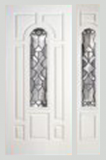 Entry Prehung 8 Panel Center Arch Smooth Skin Series Fiberglass Door
