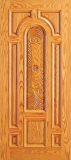 Entry Wood Door with Plain Panel