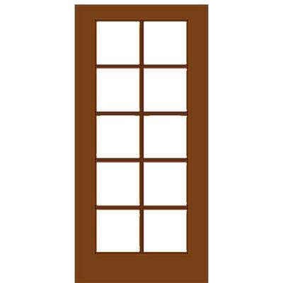 Mahogany single french door with 10 5 glass prehung for Mahogany french doors