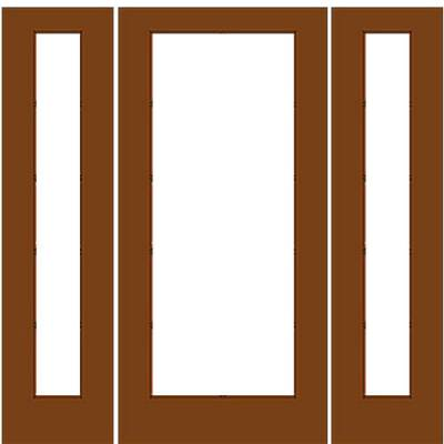 Wood french door 1 1 with 2 sidelights for French doors with sidelights