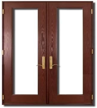 Textured Fiberglass French Double Door