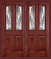 Doors - Fiberglass Entry Doors - Textured Mahogany Grain