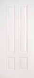Fiberglass Entry Doors - Smooth Skin Doors - 3/4 Four Panel Smooth Fiberglass Door
