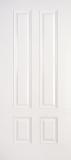 Fiberglass Entry Doors - Smooth Skin Doors - 3/4 Four Panel Smooth Fiberglass Door
