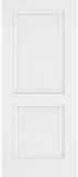 Smooth Skin Doors - Smooth Fiberglass No Glass - Smooth Fiberglass Two Panel with Square Top